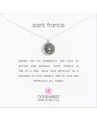 Dogeared - Reminder Saint Francis Sterling Silver Pendant Necklace - Lyst