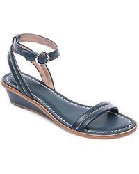 Bernardo - Catherine Leather Wedge Sandals - Lyst