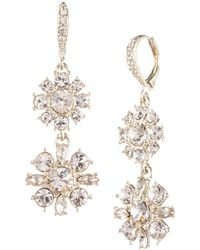 Givenchy - Goldplated And Crystal Cluster Drop Earrings - Lyst