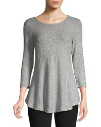 B Collection By Bobeau - Ruffled Speckled Top - Lyst