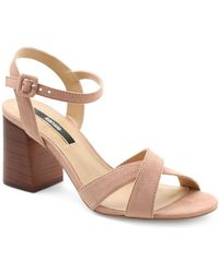 f85c33f01a6 Kensie - Exalia Block Heel Crisscross Sandals - Lyst