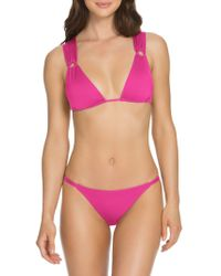 SOLUNA - Double-loop Triangle Bikini Top - Lyst