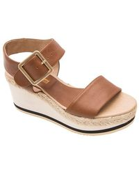 Andre Assous - Carmela Leather Platform Sandals - Lyst