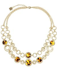 Laundry by Shelli Segal - Two-row Tortoise Link Necklace - Lyst