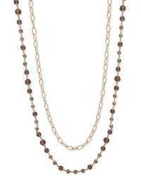Lauren by Ralph Lauren - Crystal Chain Necklace - Lyst