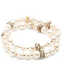 Anne Klein - Goldtone Faux-pearl Layer Bracelet - Lyst