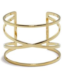 Vince Camuto - Front Crisscross Cuff Bracelet - Lyst