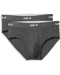 Naked - 2-pack Logo Waist Briefs - Lyst
