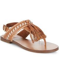27351d50755 Vince Camuto - Rebeka Tassel Leather Thong Sandal - Lyst