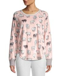 Pj Salvage - Sheep Print Pyjama Top - Lyst