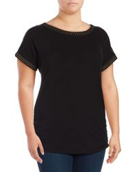 Lord & Taylor - Plus Heat Organic Ruched Tee - Lyst