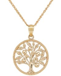 Lord & Taylor - 14k Yellow-gold Family Tree Pendant Necklace - Lyst