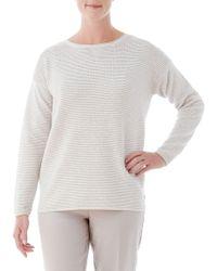Olsen - Ottoman Lurex Rib Sweater - Lyst
