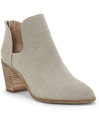 Lucky Brand - Powe Kid Suede Booties - Lyst