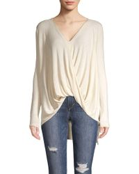 Vero Moda - Long-sleeve Twisted Front Top - Lyst