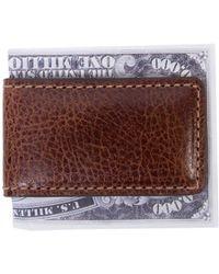 Boconi - Caleb Leather Magnetic Money Clip - Lyst