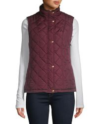 Weatherproof - Plus Faux-fur Lined Quilt Vest - Lyst