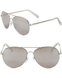 Steve Madden - 63mm Aviator Sunglasses - Lyst