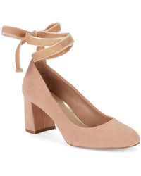 424 Fifth - Geila Suede Lace-up Heels - Lyst