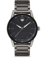 Movado - Museum Sport Round Gray Pvd And Black Pvd Bracelet Watch - Lyst