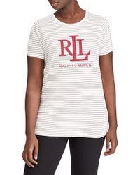 Lauren by Ralph Lauren - Plus Studded Logo T-shirt - Lyst