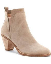 Lucky Brand - Jana Leather Booties - Lyst