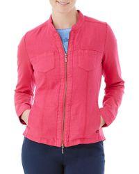 Olsen - Combo Zip Jacket - Lyst