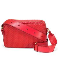 Cole Haan - Zoe Woven Leather Camera Bag - Lyst