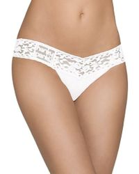 Hanky Panky - Lace Trim Thong - Lyst