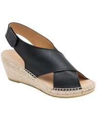 Andre Assous - Florence Leather And Jute Wedge Espadrilles - Lyst