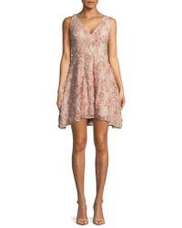 Xscape - Raised Floral Fit-&-flare Dress - Lyst