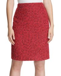 Donna Karan - Tweed A-line Skirt - Lyst