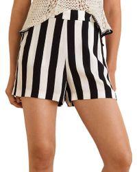 Mango - Striped Flowy Shorts - Lyst
