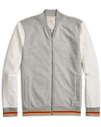 official photos 2bdc9 0edf3 Brooks Brothers Red Fleece - Colorblock French Terry Baseball Jacket - Lyst
