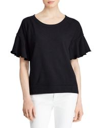 Lauren by Ralph Lauren - Flutter-sleeve Top - Lyst