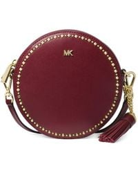 76014abac809 MICHAEL Michael Kors - Canteen Embellished Leather Circle Crossbody Bag -  Lyst