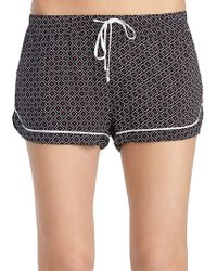 Kensie - Piped Diamond-print Lounge Shorts - Lyst