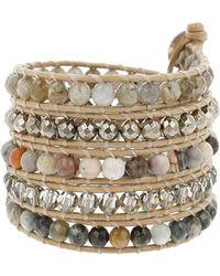 Chan Luu - Black Diamonds, Crystal & Sterling Silver Multi-strand Leather Wrap Bracelet - Lyst