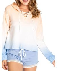 Pj Salvage - Salty Days Tie-dye Lace-up Sweater - Lyst