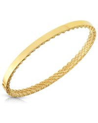Roberto Coin - Symphony Golden Gate Bangle - Lyst