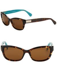 Kate Spade - 53mm Marilee Rectangular Sunglasses - Lyst