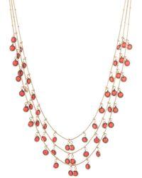 Anne Klein Crystal Three-layer Necklace