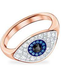 Swarovski Symbolic Evil Eye Ring - Multicolour