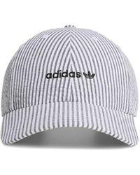 adidas - Originals Relaxed Seersucker Cotton Strapback Cap - Lyst