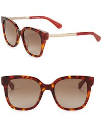 Kate Spade - 52mm Caelyn Square Sunglasses - Lyst