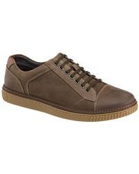 Johnston & Murphy - Wallace Lace-to-toe Oiled Nubuck Fashion Trainers - Lyst
