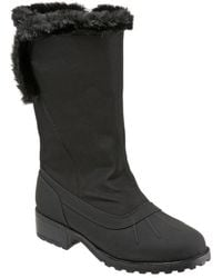 Trotters - Bowen Faux Shearling Cold Weather Boots - Lyst