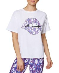 Betsey Johnson - Lips And Leopard Tee - Lyst