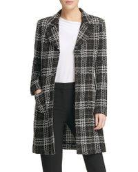 Donna Karan - Textured Notch Lapel Coat - Lyst