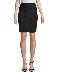 1.STATE - Solid Mesh Ruched Skirt - Lyst